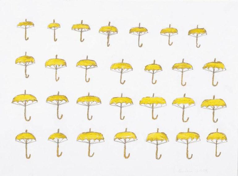 Heinrich Reisenbauer, Umbrellas, 1990 © Privatstiftung Künstler aus Gugging