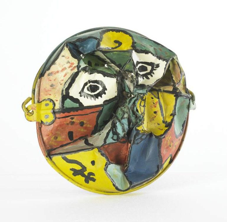 Gaston Chaissac, untitled, 1954, Oil on bucket  © VBK, Wien, 2011