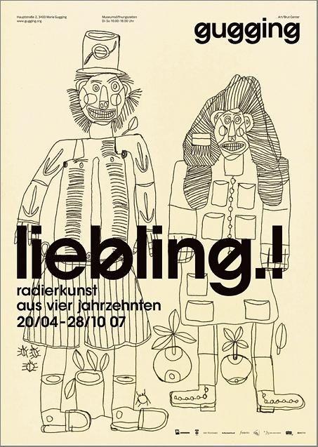 Plakat der Ausstellung liebling