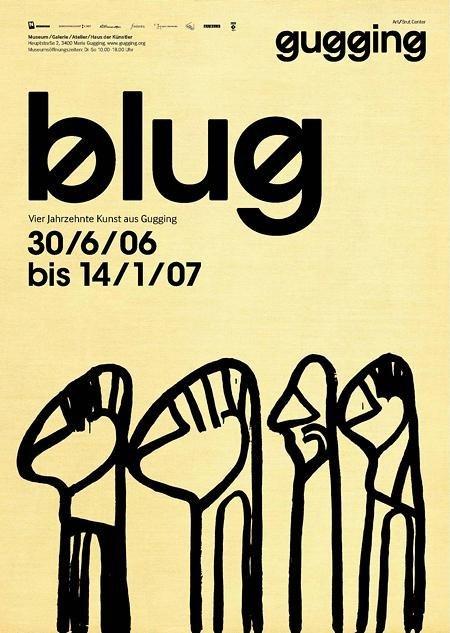 Plakat der Ausstellung blug