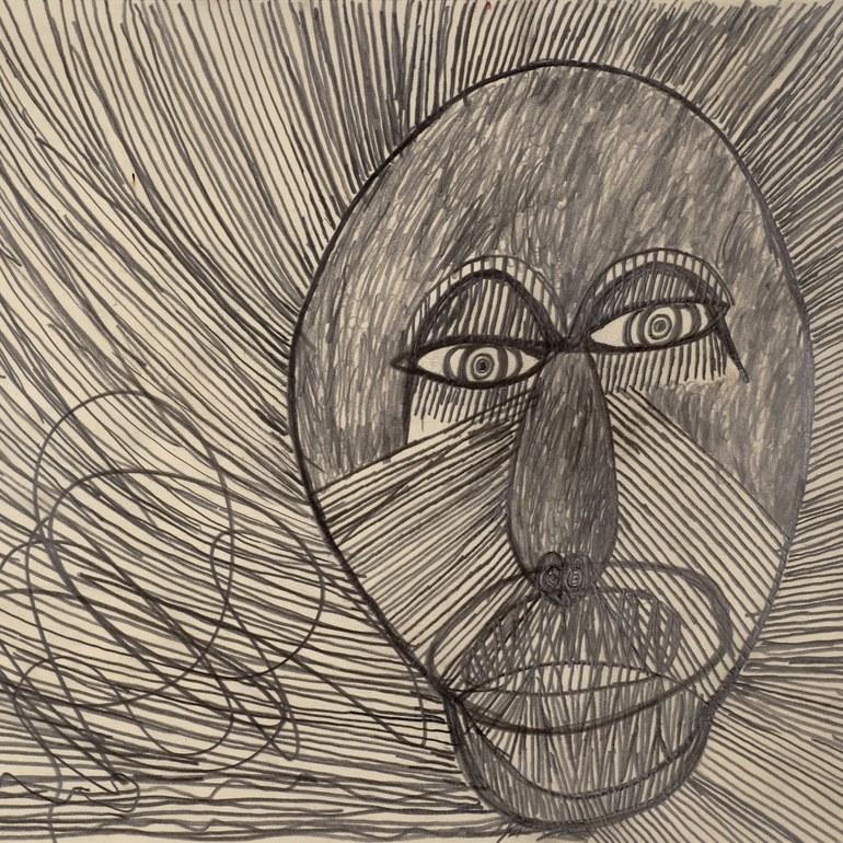 Löwe oder Tiger, 1969, Bleistift, Museum moderner Kunst Stiftung Ludwig Wien, Schenkung/donation Die Künstler aus Gugging, Sammlung Leo Navratil 1985