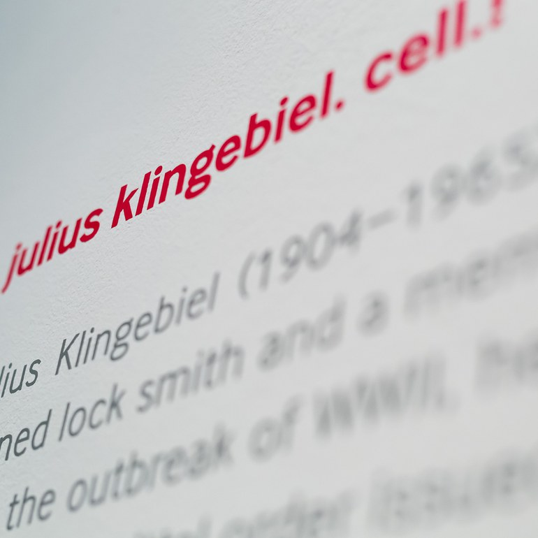 Lettering of the Exhibition © Foto: Ludwig Schedl, 2015