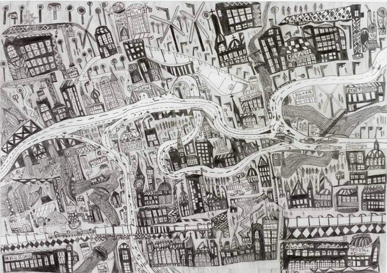 Leonhard Fink, The map of the city of Linz in Upper Austria, 2014